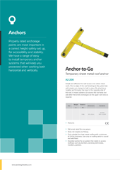 Anchors Brochure PPE Catalogues