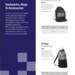 Backpacks, Bags & Accessories Brochure PPE Catalogues