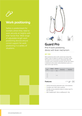 Work Positioning Brochure PPE Catalogues